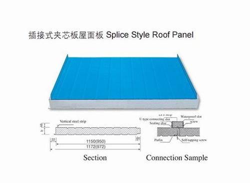 960型夹芯板隔墙板 温州彩钢夹芯板